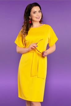 Новинка: желтое платье с поясом CHARUTTI