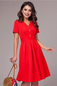 Новинка: красное платье с коротким рукавом CHARUTTI